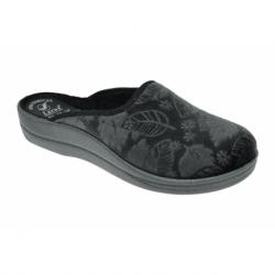 Fekete színű házipapucs magas lábfejre